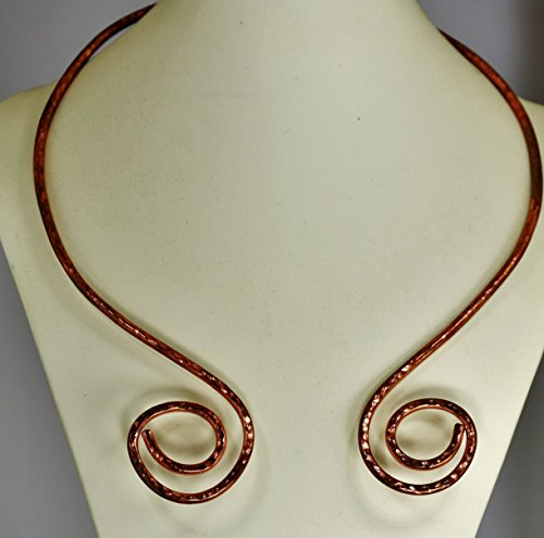 Handmade Copper Viking Torc necklace with Symmetrical sides
