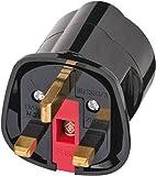 Brennenstuhl Reisestecker / Reiseadapter (Reise-Steckdosenadapter für: England Steckdose und Euro Stecker) schwarz - 4