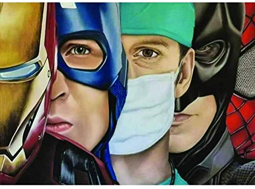 DFGAD 5D Diamond Painting Full Drill DIY Superhero Doctor Diamond Painting Diamond Embroidery Cross Stitch Arts Crafts for Home Décor 40x50cm