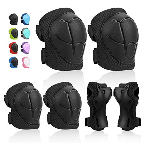 #2. Kids Protective Gear SKL Knee Pads for Kids with Wrist Guards 3 in 1