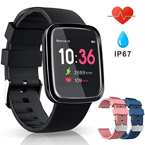 VASCOO SmartWatch, Reloj Inteligente con Impermeable 67, Pulsera Actividad Inteligente con Monitor Rítmo Cardíaco Calorías, 8 Modos Deportes GPS, Reloj...