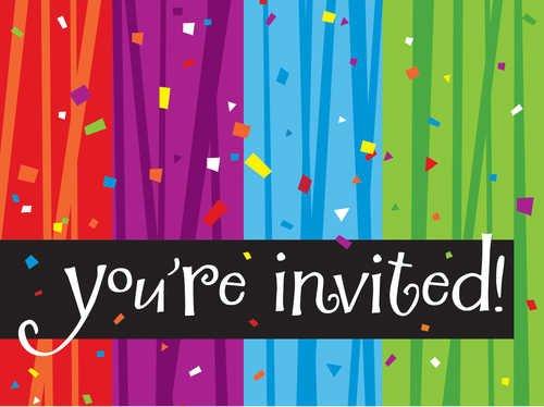 Creative Converting Cards Milestone Celebration Foldover Invitation, 4
