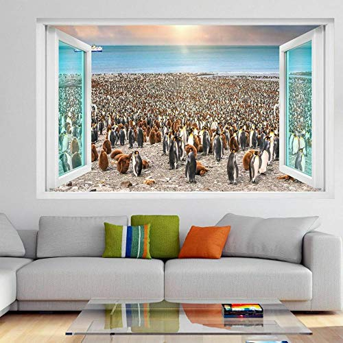 Pegatinas de pared Pingüinos pájaros pegatina pared arte Mural autoadhesivo vinilo póster habitación de niños FG6