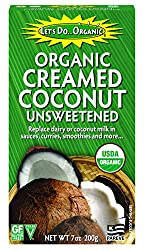 Let's Do Organic Creamed Coconut, 7-Ounce Boxes (Pack of 6) : Baking And Cooking Coconut Shortenings