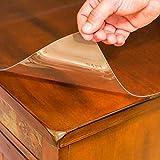 Transparent PVC Tischdecke Tischschutz hochwertig Tischfolie Tischabdeckung Küche glasklar abwaschbar wasserdicht, Breite & Länge wählbar, 90x160 cm - 2