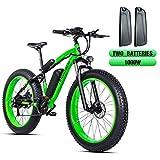 shengmilo Velo Electrique VTT Electrique Neige Fat ebike 26' 4.0 Gros Pneu Electric Bike vélo électrique 1000W Moteur Batterie au Lithium 48V 13A 21 pour Adulte Homme Vitesses Disque hydrauliques