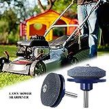 fllyingu Schleifgerät für Rasenmähermesser,Rasenmäher Sharpener Mähmesser Schleifmittel für Bohrmaschinen Handbohrmaschine