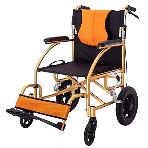 Y-longhair Autopropulsión sillas de ruedas Deluxe Tránsito Viajes sillas de ruedas plegables Silla portátil ultra ligero Deluxe discapacitados ambulancia Silla resistente a la perforación de N