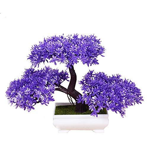 CGBF-kunstplanten kunstbomen, kunstmatig groen gepotte dennen vorm Bonsai niet vervaagd geen water potten voor vensterbank Home Office Decoratie