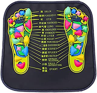 Foot Massager Reflexology Walking Stone Foot Massage Mat Relaxing Pressure Muscle Pain Relief (13.58*13.58