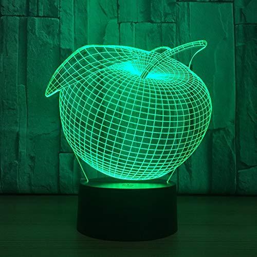 hqhqhq Fruta Creativa 16 Colores USB luz táctil acrílico Led Visual al por Mayor 3D luz de Noche Luminaria USB Led 3D lámpara Chico lámpara con Mando a Distancia -1314