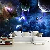 VGFGI Vinilo autoadhesivo moderno moderno planeta planeta universo espacio techo del hogar extraíble para muebles decoración de la pared del dormitorio