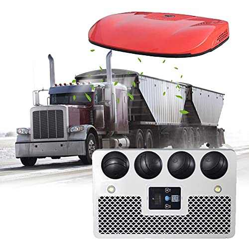 HAIT Aire Acondicionado Caravanas Claraboya Caravana, Consumo de energía de 24 V DC Aire Acondicionado Portátil con 28 Tubos de Evaporación de Cobre Puro