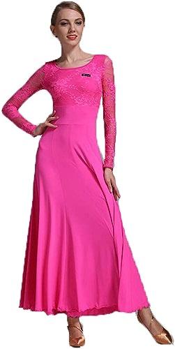 QMKJ Robe de Danse lyrique Floral Sequin Tank Ballet Justaucorps Maxi Jupe Dancewear Rose Lait Soie Nouvel an Party Grande Taille XL XXL