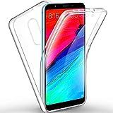 TBOC Funda para Xiaomi Redmi 5 (5.7 Pulgadas) - Carcasa [Transparente] Completa [Silicona TPU] Doble Cara [360 Grados] Protección Integral Total Delantera Trasera Lateral Móvil Resistente Golpes