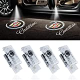 Car Door Light LED Logo Lights Car Projector Courtesy Laser Welcome Lights Ghost Shadow Light Compatible with Cadillac Accessories SRX ATS XTS (4 PACK)