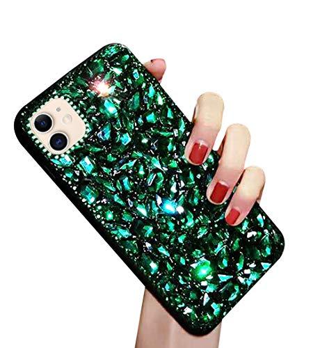 MoreChioce Compatible avec Coque iphone 11,Compatible avec Coque iphone 11 Paillette,Fantaisie 3D Bling Diamond Miroir Hybrid Silicone Étui Multicolore Gradient Housse de Protection,Diamant #6