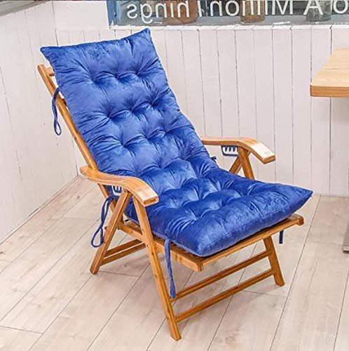 HZWLF Double-Sided Thickening Sun Lounger Cushions Replacement Cushion Only for Reclining Chairs Relaxer Ties Cushion Seating Pads Universal Sofa Cushion 125 48 8Cm