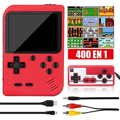 Yicente Consola Retro de Juegos Portátil Clásica 400 Juegos Electrónicos Pantalla LCD...