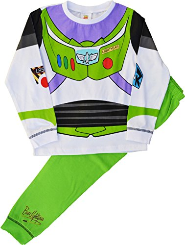 Pijama de Buzz Lightyear de Toy Story Blanco White, Green 4-5 Años