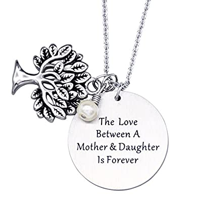 O.RIYA Personalized Family Tree Necklace, Tree of Life Pendant, Mother Gift Necklace, Christmas Gifts For Mom Grandmothers Necklace