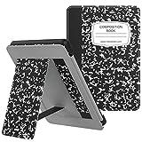 MoKo Funda para Kindle Paperwhite (10th Generation, 2018 Releases) Protectora Ligera de Cuero PU Soporte de Mano Cubierta Case con Auto Sueño/Estela para Paperwhite E-Reader - Notebook Negro