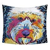 GenericBrands Color Pintura al óleo Tapiz de Animales Tapicería Hippie Tapices Mantas Decoración para el hogar para el Dormitorio Sala de Estar Dormitorio