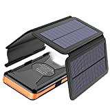 Solar Charger X-DRAGON 25000mAh Portable Power Bank with 4 Solar Panels Waterproof External