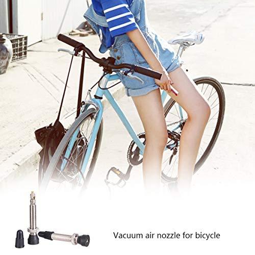 JohnJohnsen Kit de Bicicletas Profesional tubeless V/álvulas FV Francesa de neum/áticos F//V Sin Tubos Presta v/álvulas para MTB Mountain Road neum/ático de la Bici de conversi/ón Negro y Plata