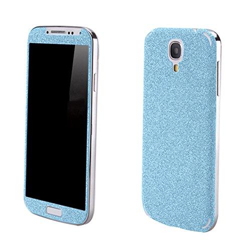 Luch Samsung Galaxy S4 Glitzerfolie Skin Diamond Shine Sticker Klebefolie Schutzfolie für die Vorder- und Rückseite, Blau