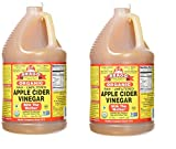 Organic Apple Cider Vinegar, Raw, Unfiltered, with The Mother, 128 Ounce