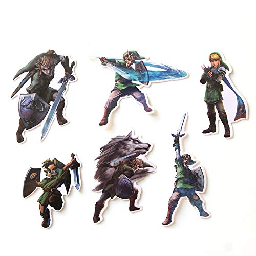 Adesivo Zelda 50pcs   lot Master Zelda Sword Mezzula Personalità creativa Valigia Skateboard Frigorifero Notebook Cartoon Sticker