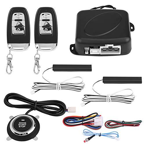 KIMISS 9Pcs Sistema universal de alarma para automóvil SUV, Arrancador remoto de entrada sin llave de seguridad