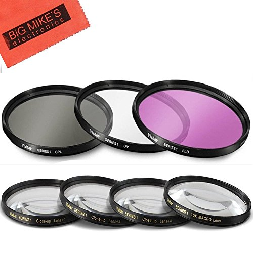 7 Piece 40.5mm Filter Set Includes 3 PC Filter Kit (UV-CPL-FLD) and 4 PC Close Up Filter Set for Sony Alpha A5000, A5100, A6000, A6300, A6500, NEX-5TL, NEX-6 Camera with Sony 16-50mm E-Mount Lens