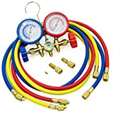 ELECTROPRIME Manifold Gauge Set Refrigeration Charging Air Conditioning Accessories