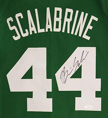 Brian Scalabrine Boston Celtics Signed Autographed Green #44 Custom Jersey JSA Witnessed COA