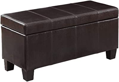 Amazon Com Beautiful Storage Ottoman With Dark Brown