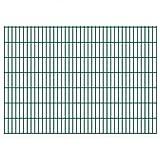 VIENDADPOW Zaunfelder 2D Gartenzaun-Elemente 2,008x1,43 m Gesamtlänge 10 m Grün