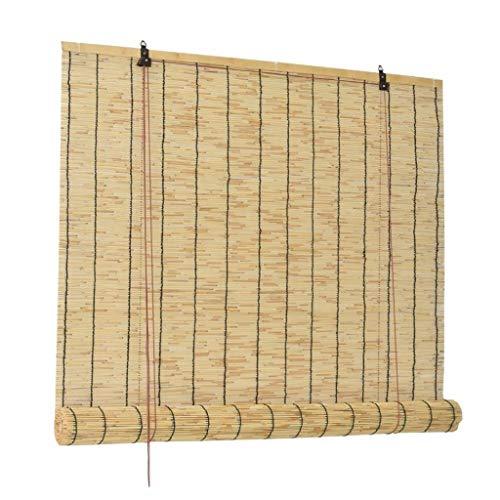 Persianas de bambú para ciegas de rodillos cortina de caña natural, persianas de sombra Cortina de paja vintage, persianas decorativas a prueba de polvo anti-UV, para ventana de jardín al aire libre i