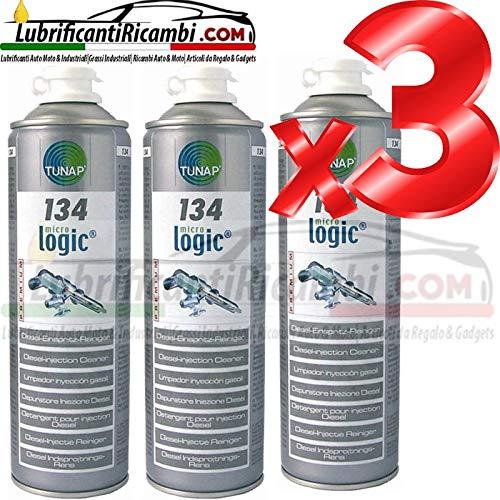 TUNAP 3X 134 500ML - ADDITIVO Pulizia INIETTORI Diesel - 3 bombolette Super Offerta