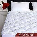 INGALIK Queen Mattress Pad Cotton Mattress Topper Cooling Mattress Pad Cover Pillow Top (8-21Inch Deep Pocket Down Alternative)