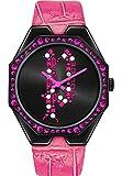 Police Damen-Uhren Analog Quarz One Size Pink Leder 32015082