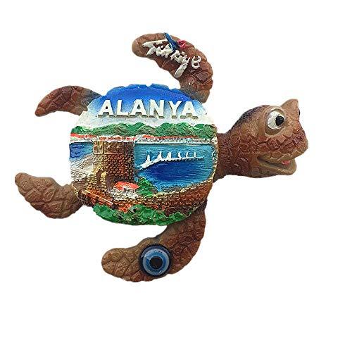 Kühlschrankmagnet im 3D-Meeresschildkröten-Stil, Alanya, Türkei, Souvenir, Geschenk, Heim, Küche, Kühlschrank, Dekoration, Magnet-Aufkleber