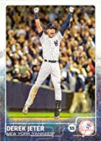 2015 Topps #1 Derek Jeter Baseball Card - Game Winning Hit in Last At-Bat at Yankee Stadium