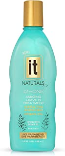 IT NATURALS 12-in-ONE Argan Oil Leave In Treatment with Keratin, 10.2oz   Infused with Keratin Proteins   Humidity Resistant   UV Protection   Remove Tangles, Color Safe   Paraben Free