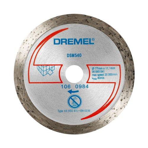 Dremel DSM540 Multifunktions Karbid-Trennscheibe, Zubehörsatz mit 1 Trennscheibe 77mm für die Kreissäge zum Sägen und Trennen von Holz und weichen Materialien