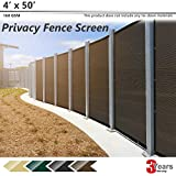 BOUYA BO450 Brown Heavy Duty for Chain-Link Fence Privacy Screen Commercial...