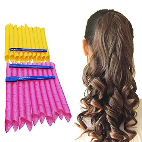 Orgrimmar 20PCS Magic Hair Curlers Curls Styling Kit, DIY No Heat Hair Curlers for Extra Long Hair up to 22  (55 cm)