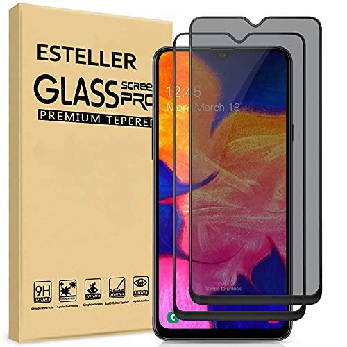 Esteller [2 Pezzi] Privacy Pellicola Protettiva per Samsung Galaxy A50, Vetro Temperato per Samsung Galaxy A50, [Copertura 3D Completa] [Case Friendly] Anti-Spy Pellicola Protettiva