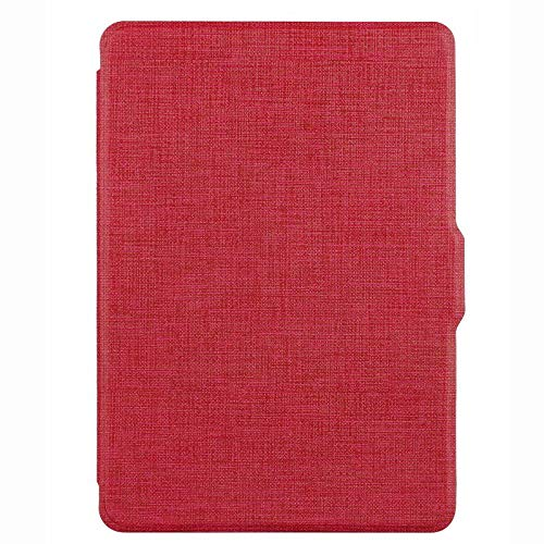 Case for Kindle Paperwhite 5, 6, 7th Generations, Flip Cover Protection Case for E-Readers, Ultra-Thin Protective Cover with Auto Sleep/Wake up Compatible with Kindle Paperwhite Models (Red)